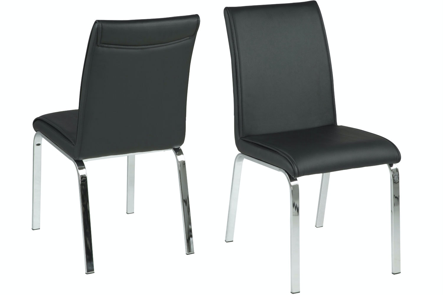 Lennox 7 Piece Dining Set | Leonora Dining Chairs Black