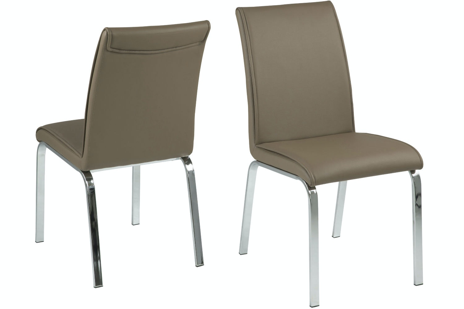 Lennox 7 Piece Dining Set | Leonora Dining Chairs Cappuccino