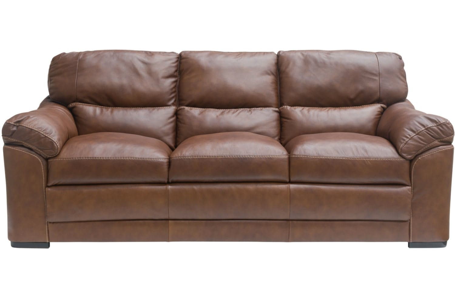 Senna Leather 3-Seater Sofa