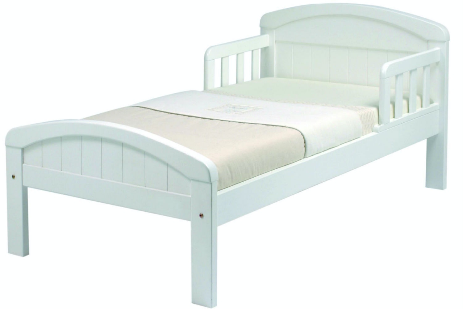 Country Toddler Bed | White