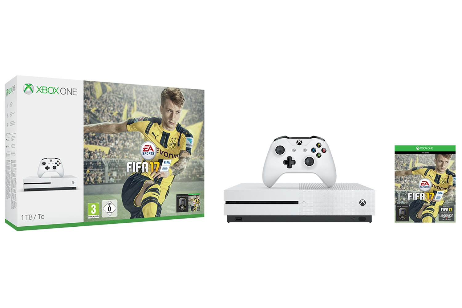 Xbox One S 1TB White | FIFA 17 Bundle