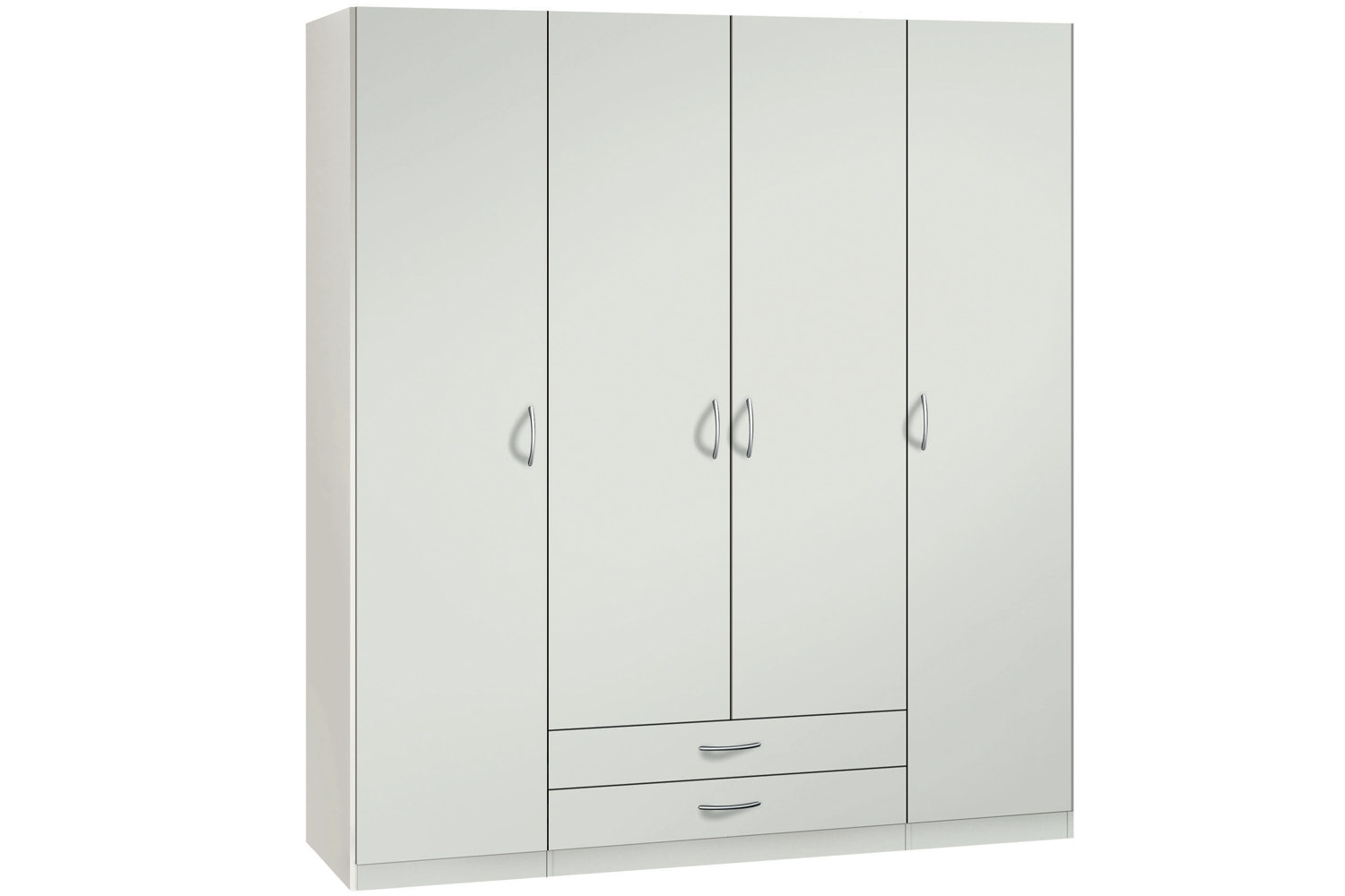 Jutzler Sonja Hinged 4 Door 2 Drawer Wardrobe | White