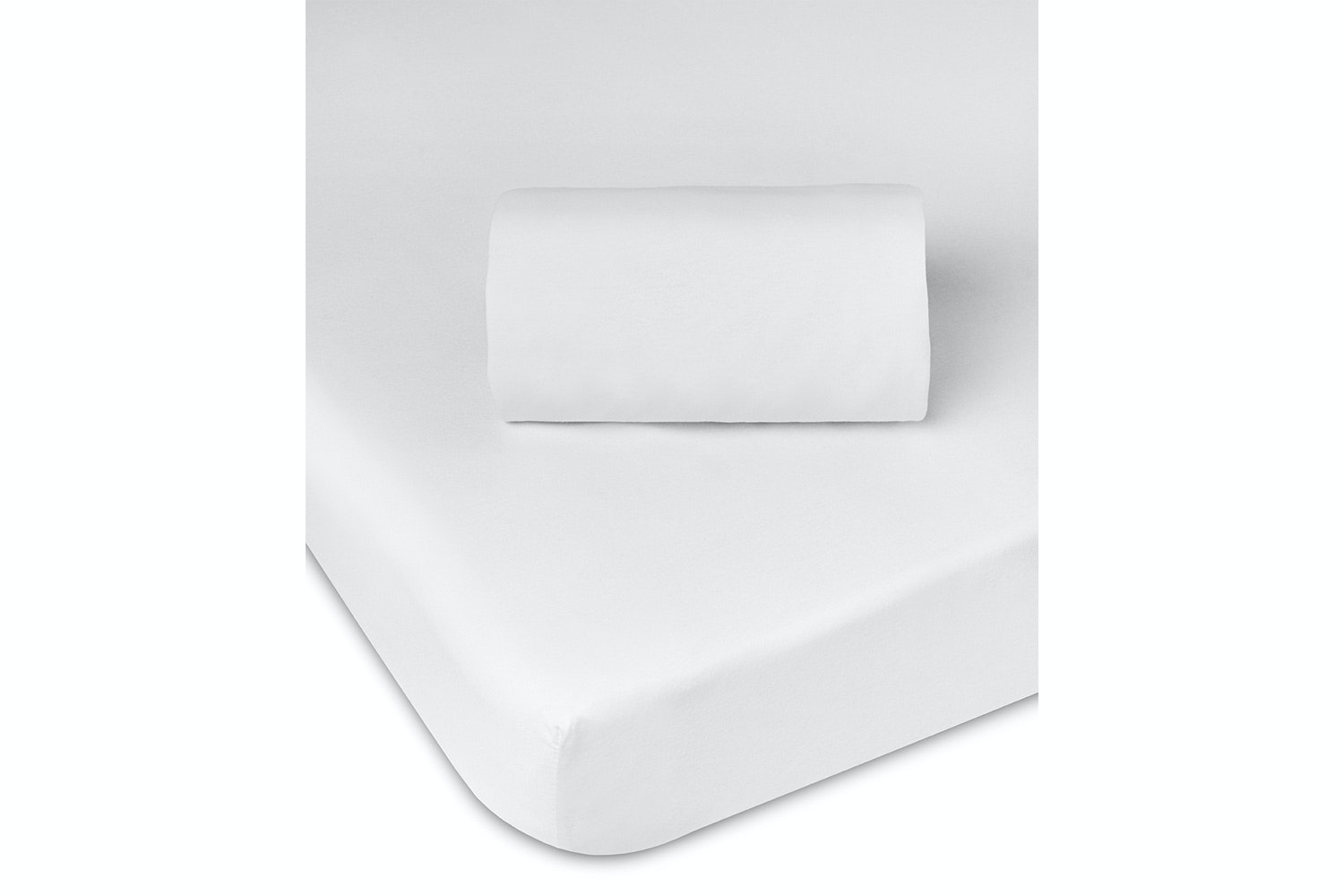 Babysleep Crib Fitted Sheet | White