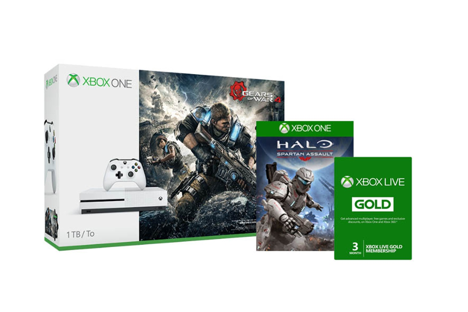 Xbox One S 1TB White | Gears Of War 4 Bundle