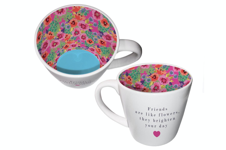 Inside Out Mug   Friends Are Like Flowers