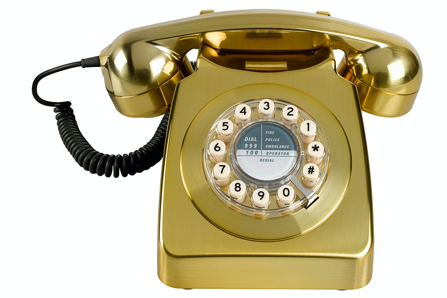 746 Phone Brushed Brass