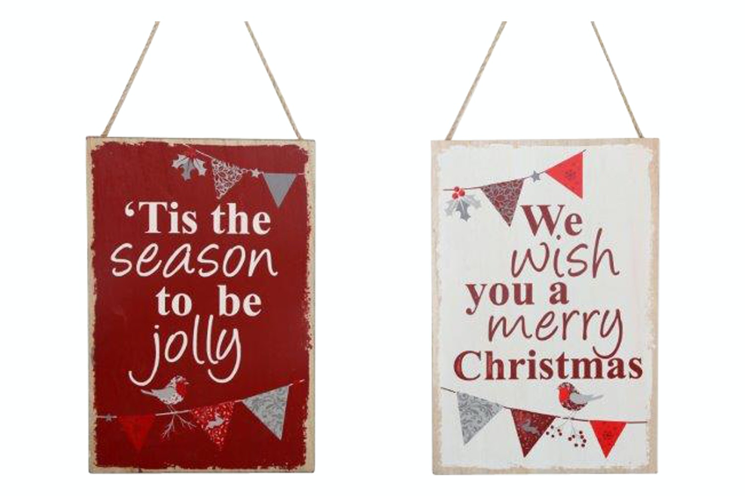 Christmas Bunting Plaque