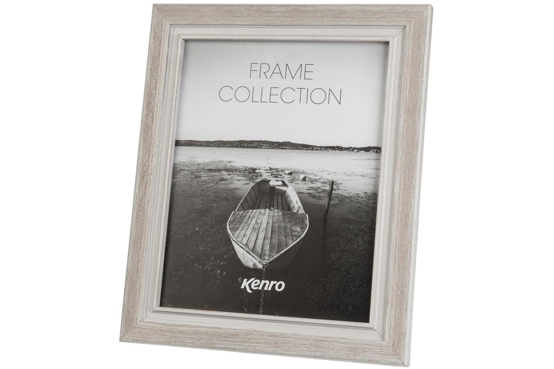"Emelia Distressed Wood 8X6"" Photo Frame | White"