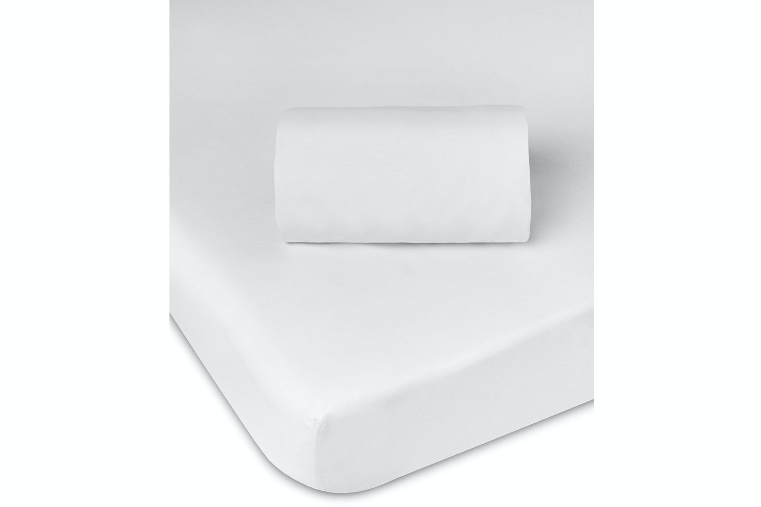 Babysleep Cotbed Fitted Sheet | White