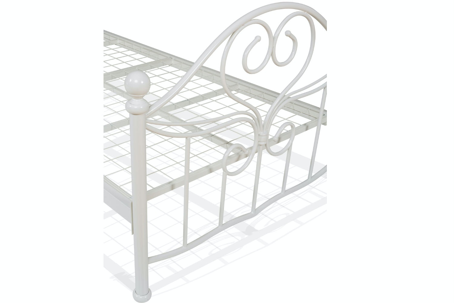 Julliet Single Metal Bed Frame | 3ft | White