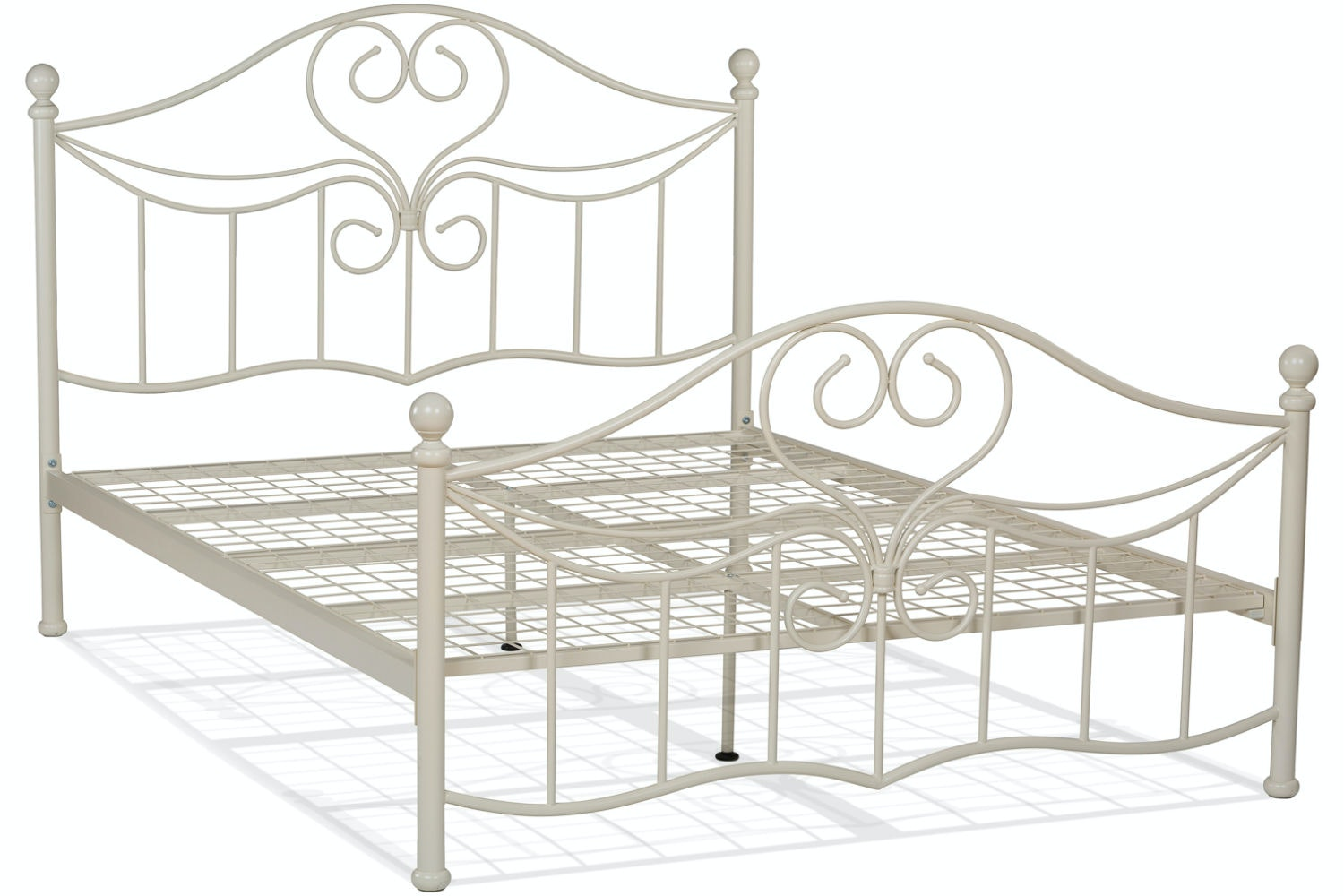 Julliet Double Metal Bed Frame | 4ft6 | Ivory