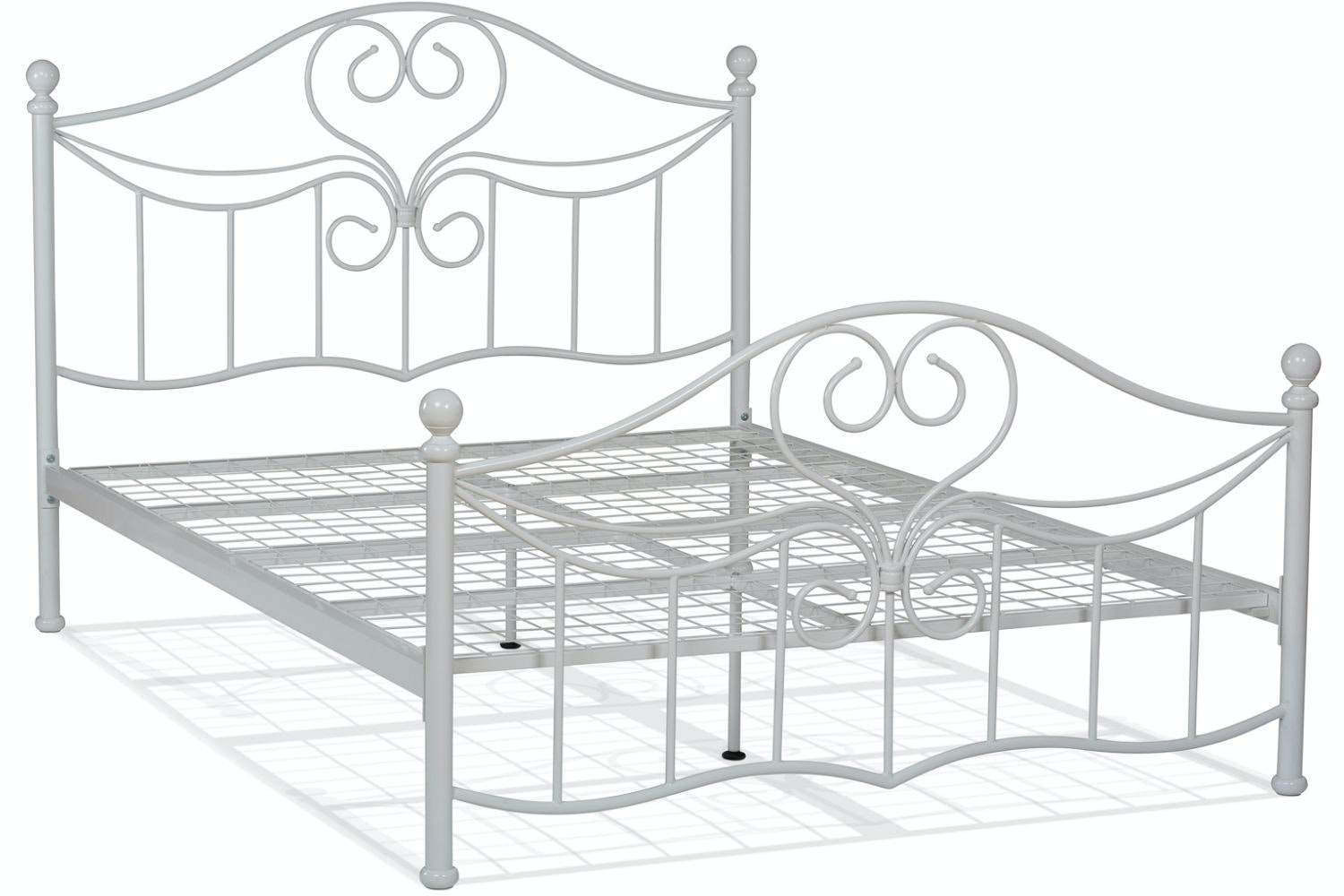Julliet Double Metal Bed Frame | 4ft6 | White