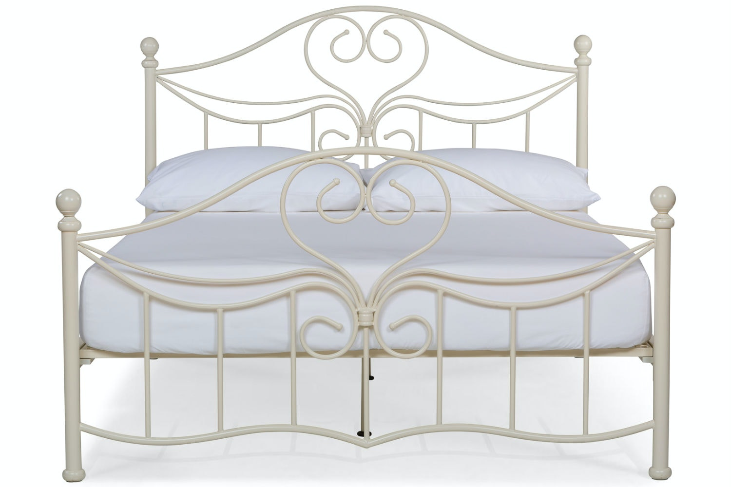 Julliet Small Double Metal Bed Frame | 4ft | Ivory