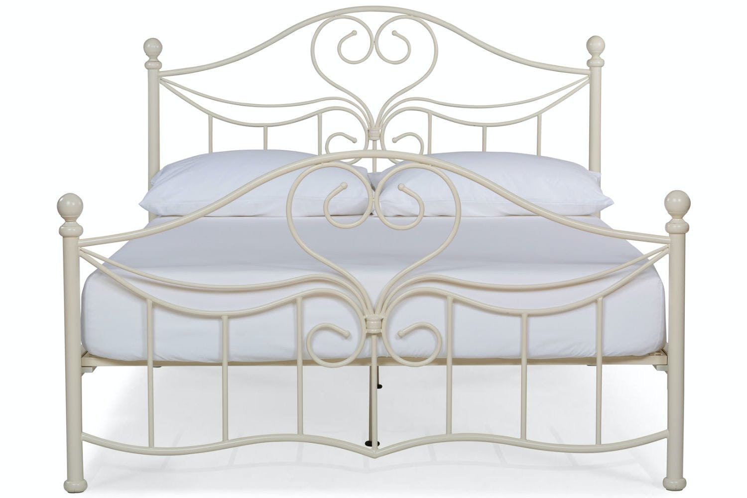 Julliet Small Double Metal Bed Frame | 4ft | Ivory | Ireland