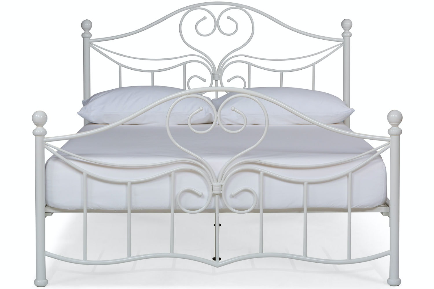 Julliet Small Double Metal Bed Frame | 4ft | White