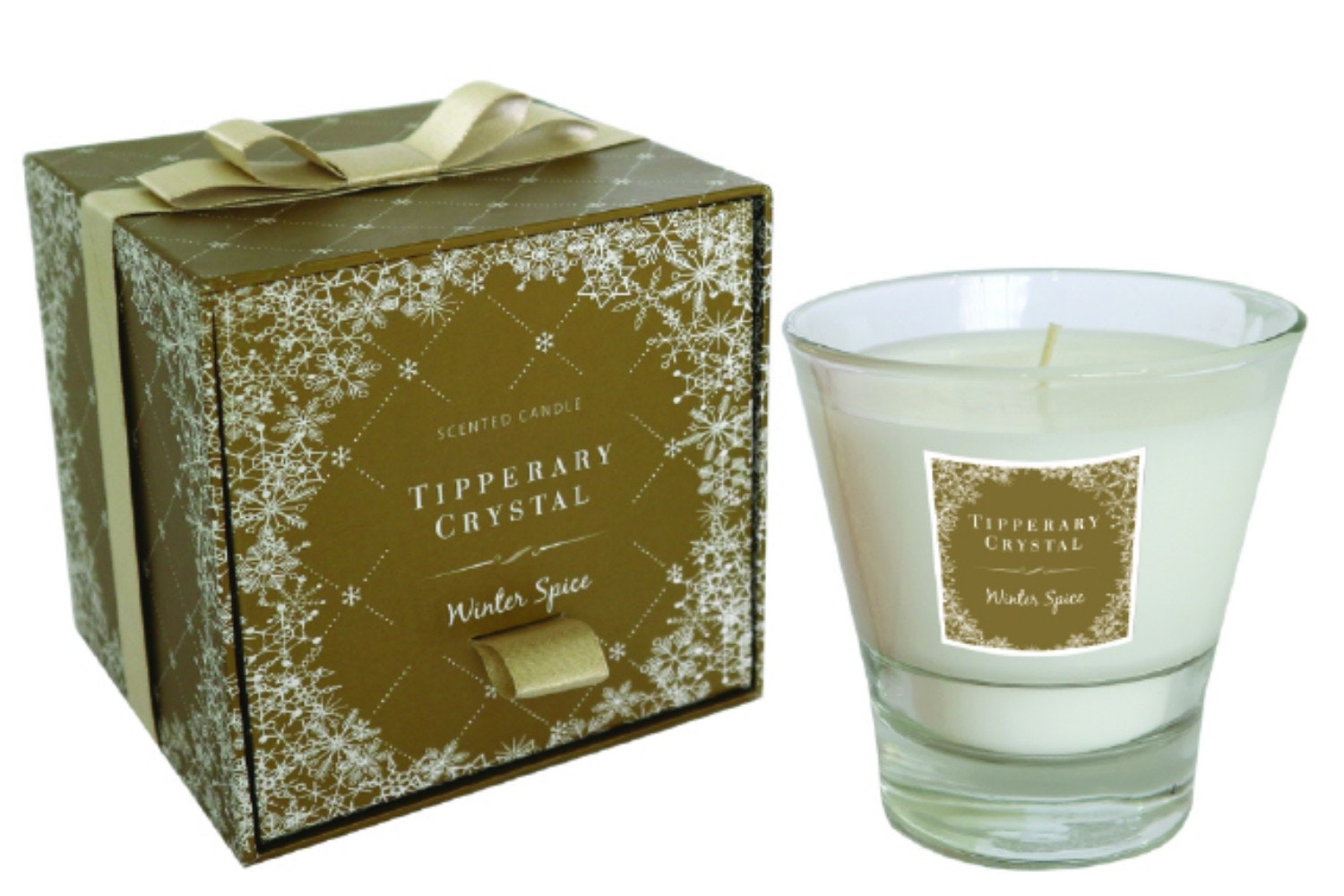 Tipperary Crystal Winter Spice Filled Tumbler Candle