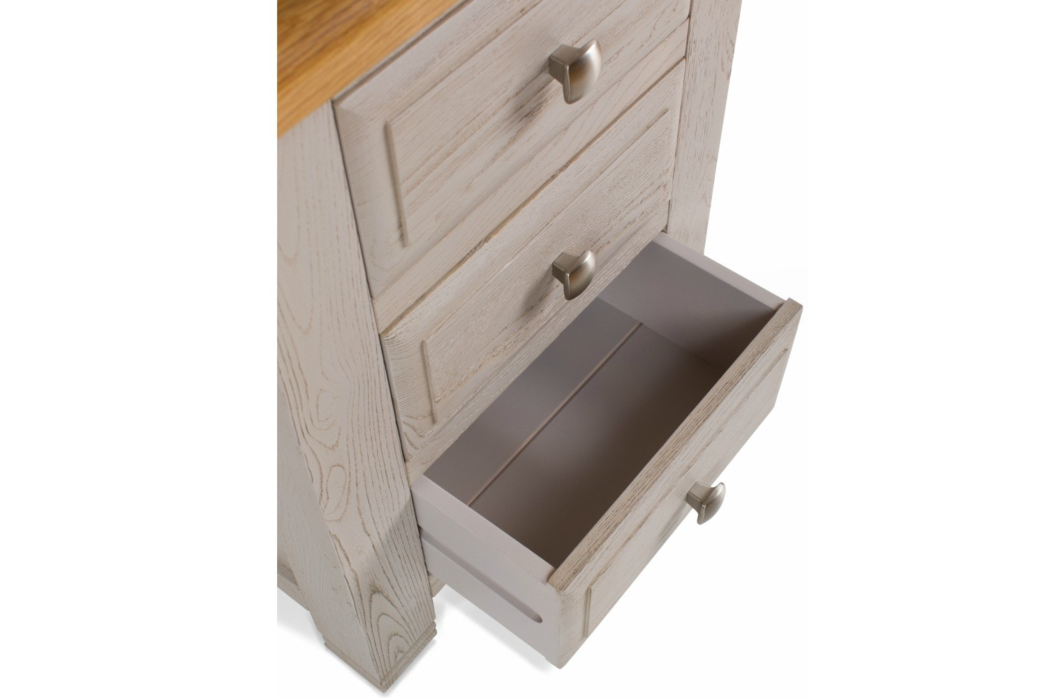 Lancaster 3 Drawer Bedside Locker | Aged Grey
