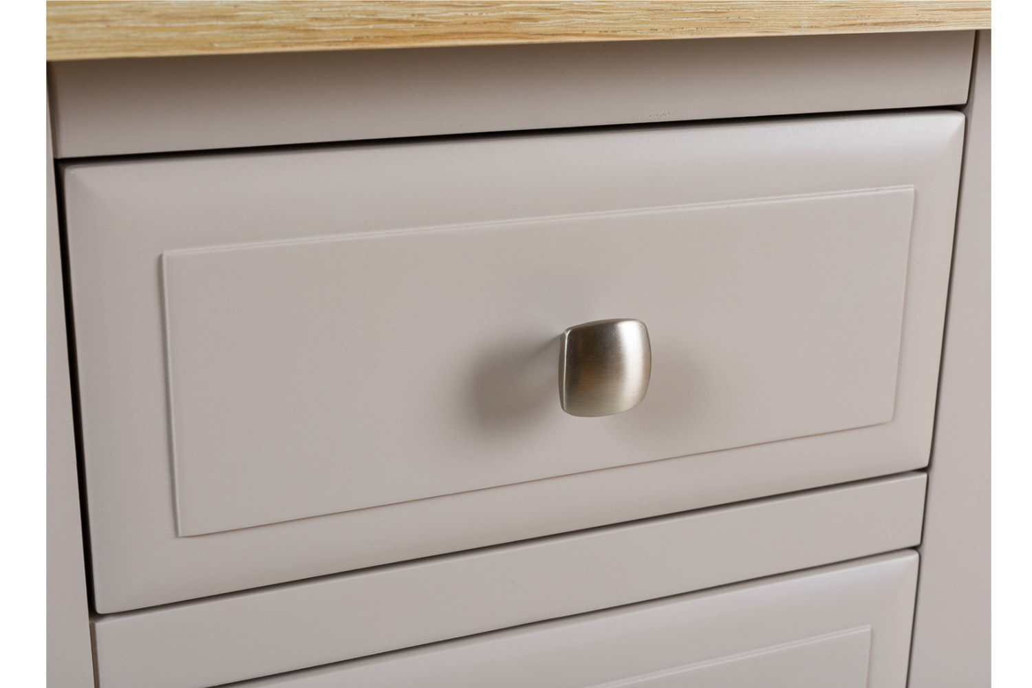Lancaster 3 Drawer Bedside Locker | French Grey