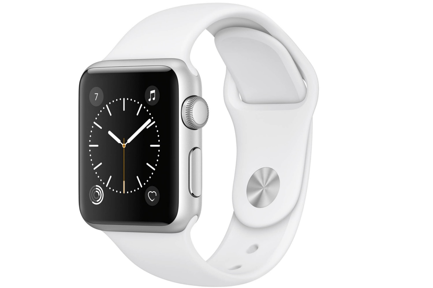 Apple Watch Series 1 | 38mm Silver Aluminium Case with White Sport Band