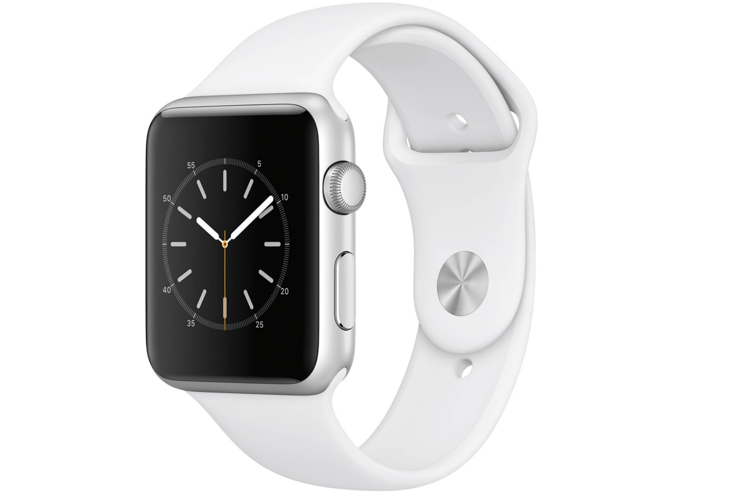 Apple Watch Series 1 | 42mm Silver Aluminium Case with White Sport Band