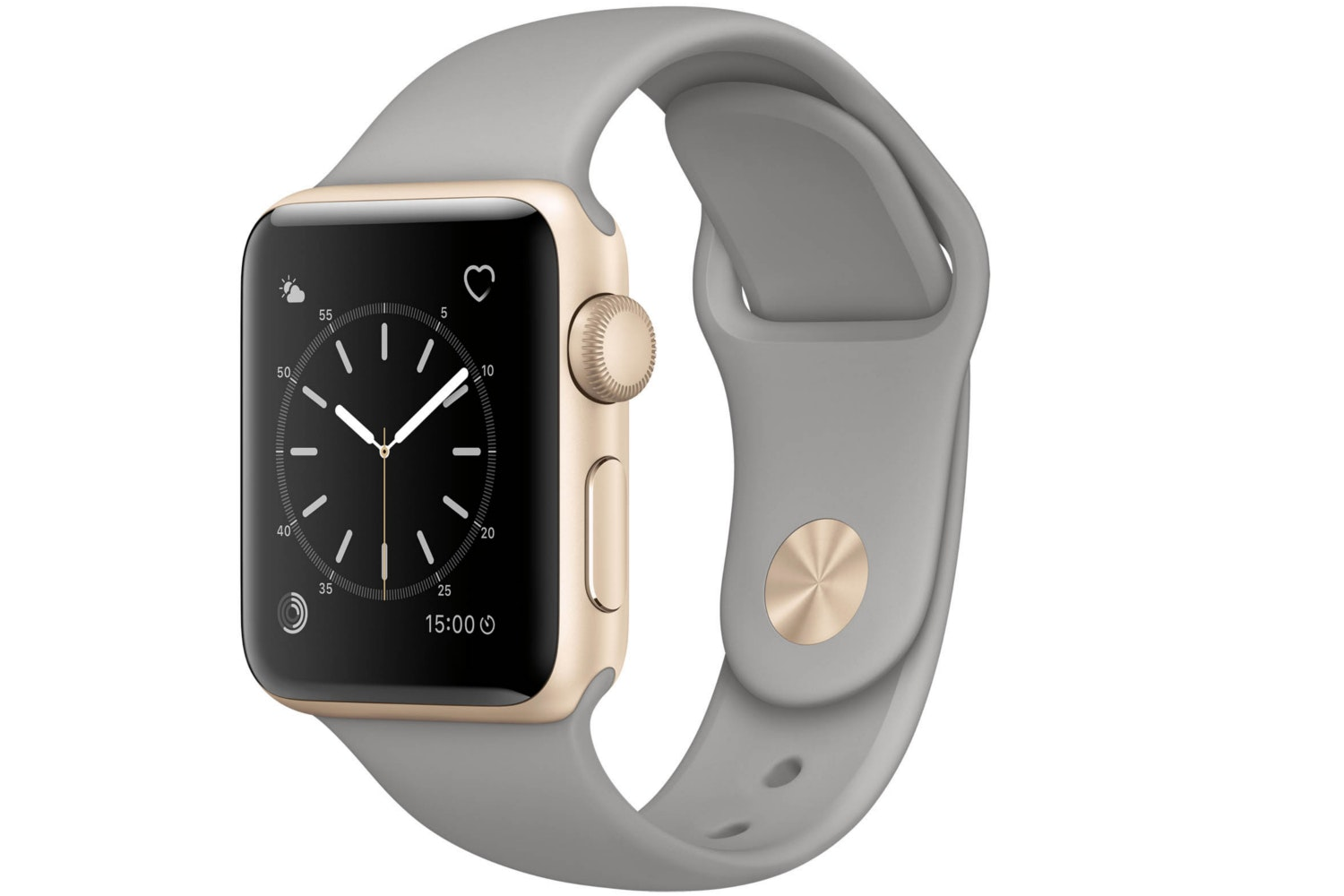 Apple Watch Series 2 | 38mm Gold Aluminium Case with Concrete Sport Band