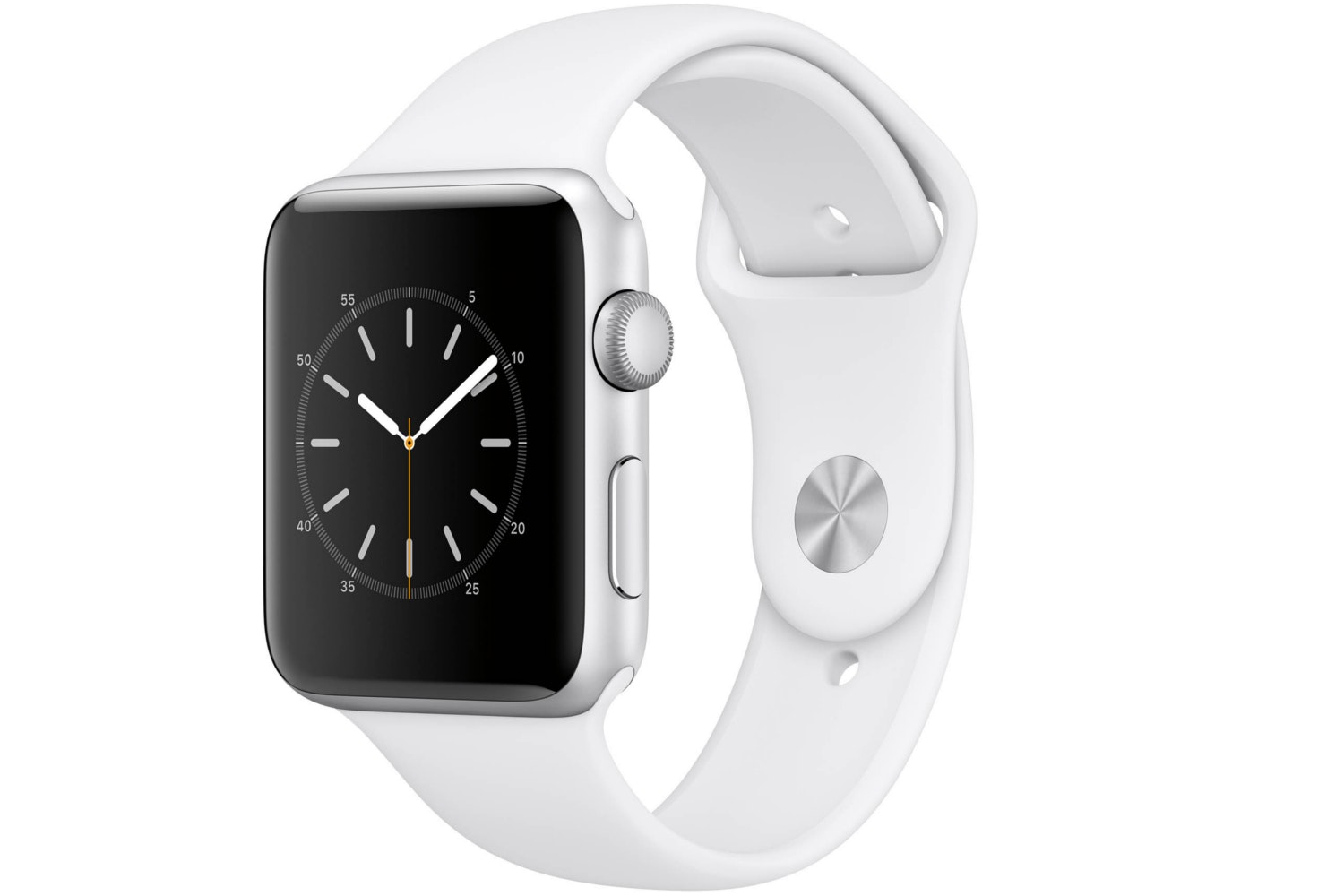 Apple Watch Series 2 | 42mm Silver Aluminium Case with White Sport Band