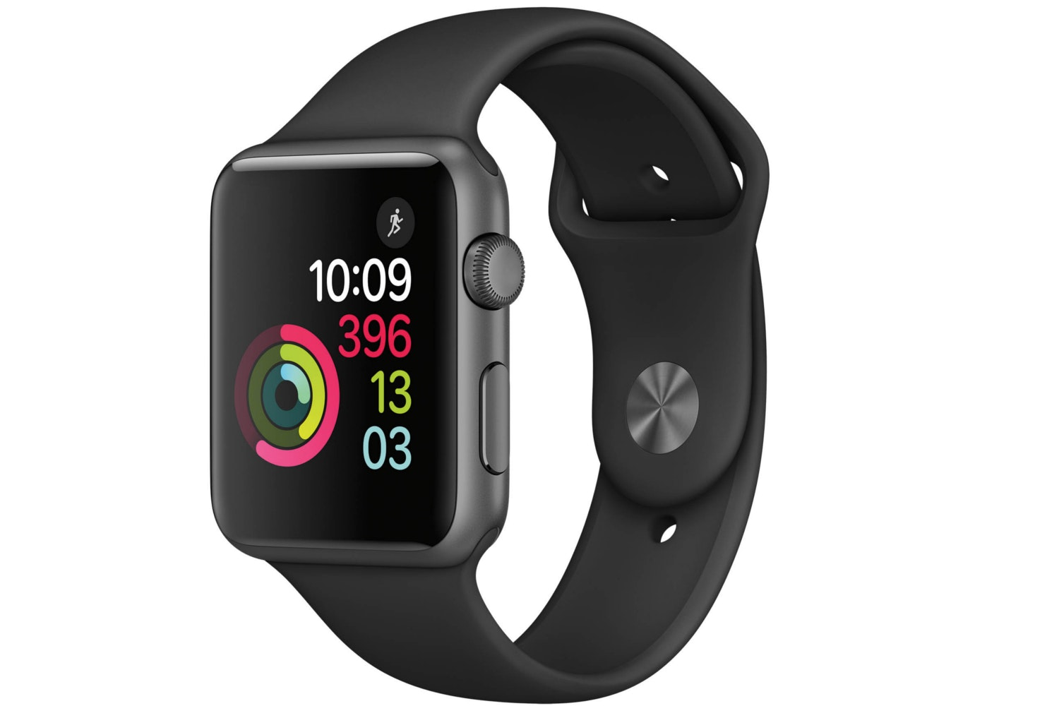 Apple Watch Series 1 | 42mm Space Grey Aluminium Case with Black Sport Band