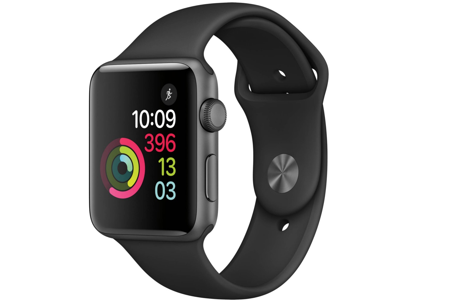 Apple Watch Series 2 | 42mm Space Grey Aluminium Case with Black Sport Band