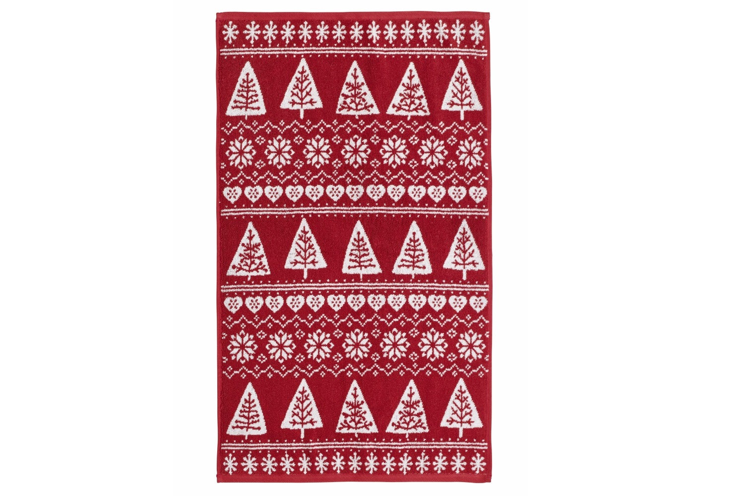 Nordic Trees Hand Towel | Red