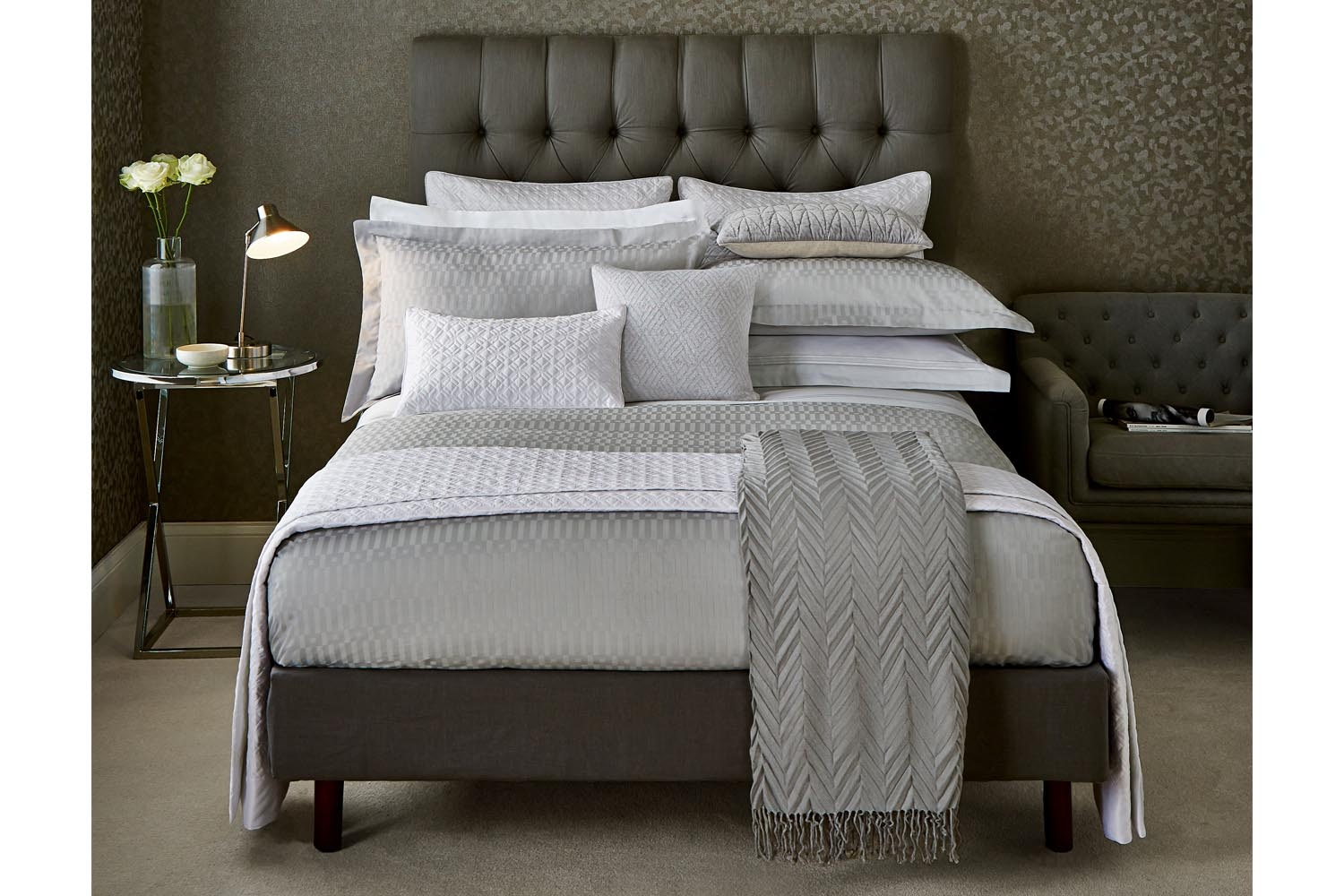 Kilburn Platinum Duvet Cover | King