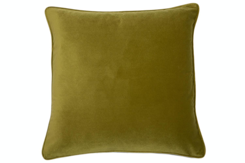 Velvet Piped Acid Green Cushion | 43X43cm
