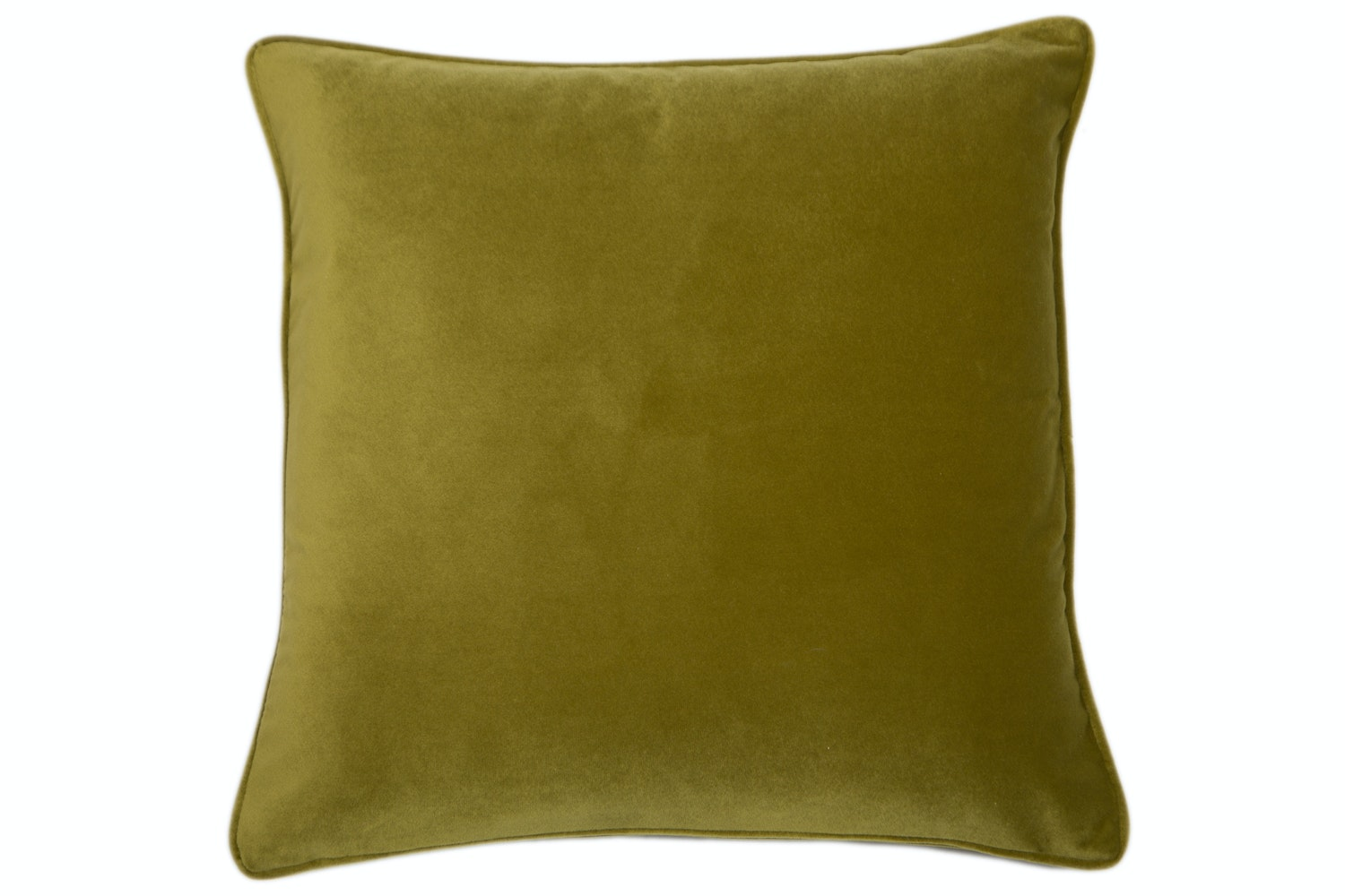 Velvet Piped Acid Green Cushion | 43X43cm