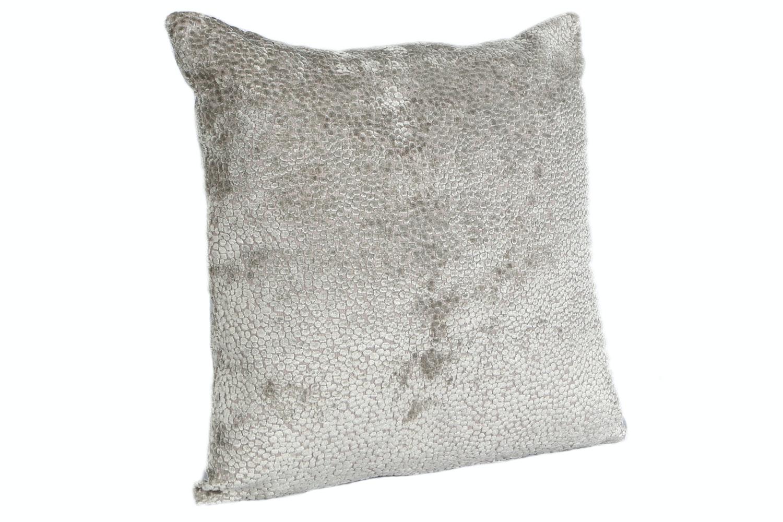 Burnt Velvet Taupe Cushion   43X43cm