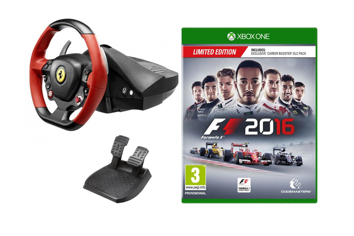 Ferrari 458 Steering Wheel & F1 2016 | Xbox One