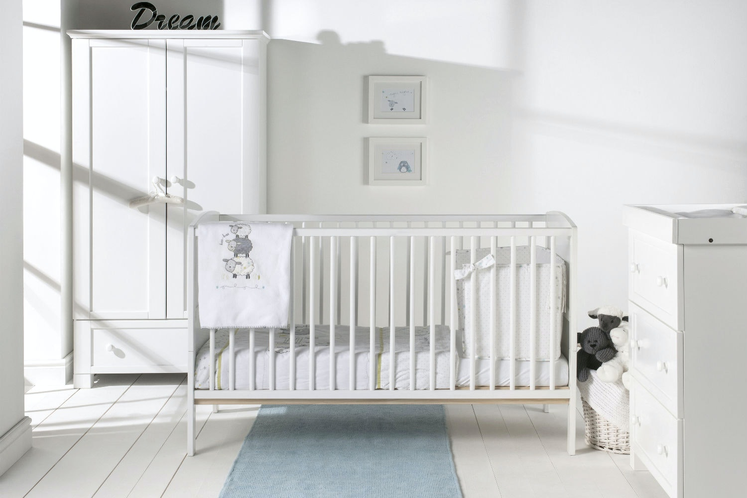 Hudson 2 in 1 Cot Bed | White