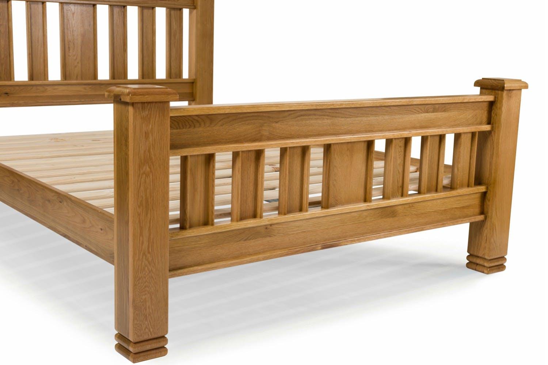 lancaster natural oak bed frame 5ft - Oak Bed Frame