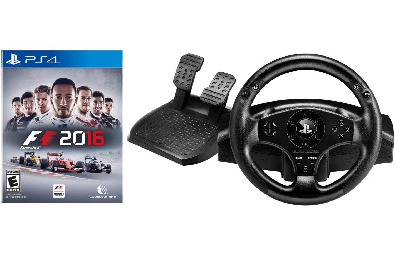 Playstation T80 Racing Wheel & F1 2016 | PS4