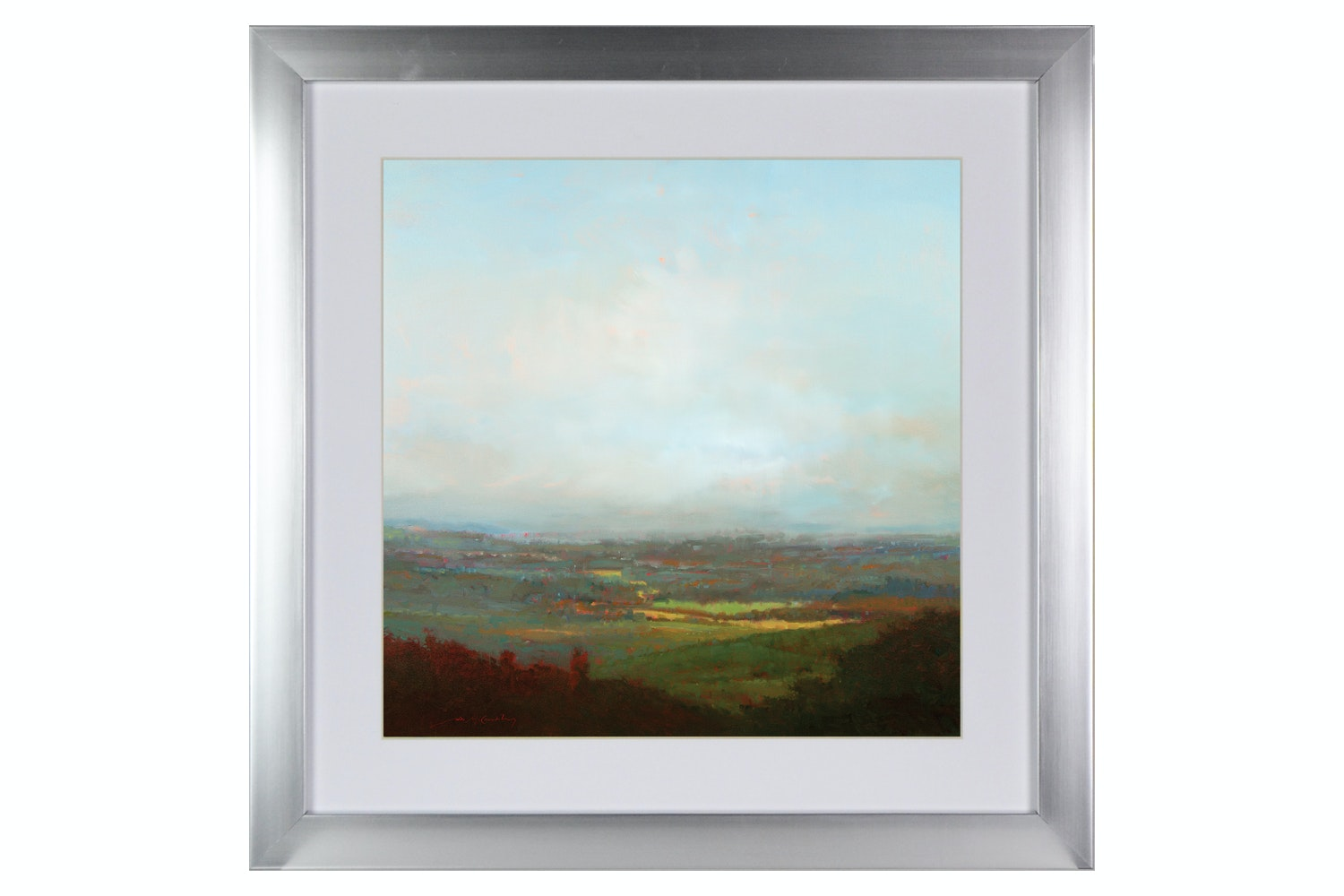 Green Valley Below Printed Art | 50x50cm
