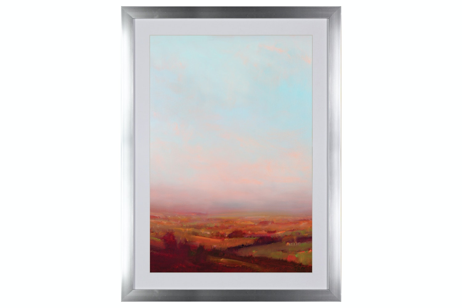 Misty Orange Printed Art | 60x80cm