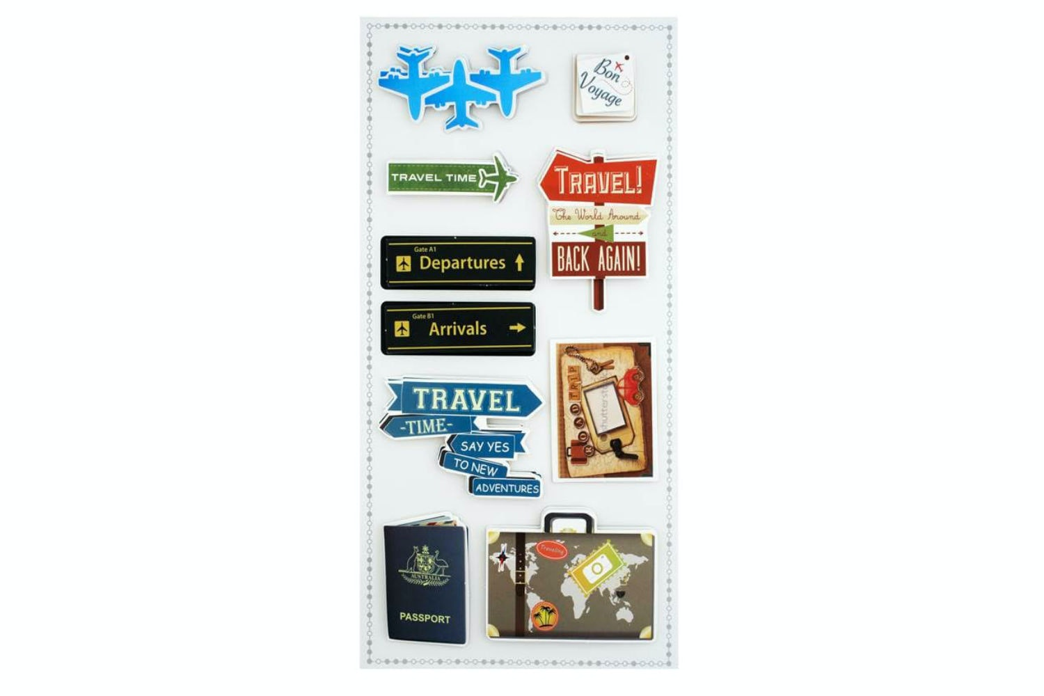 3D Sticker Set | Travel
