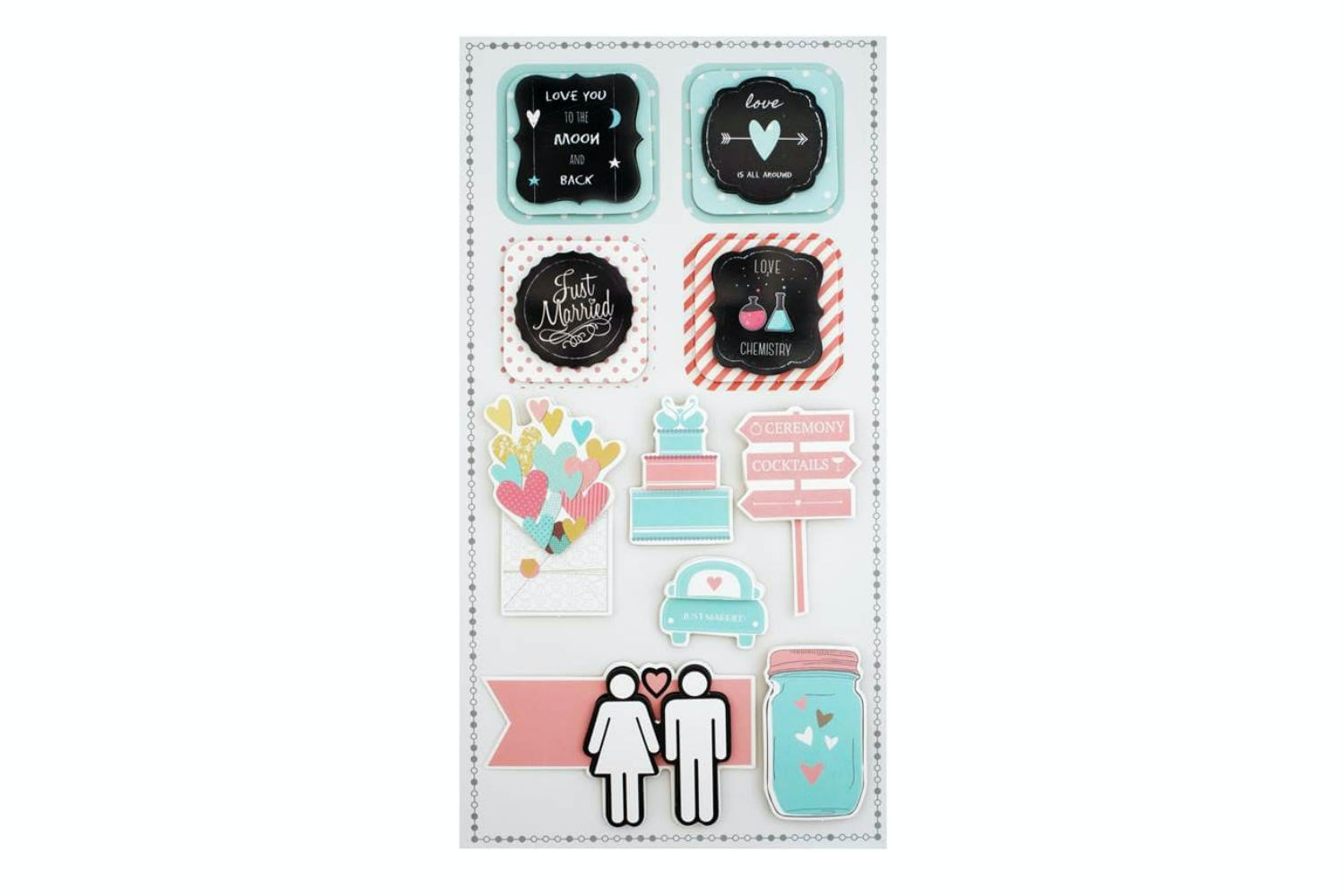 3D Sticker Set | Wedding