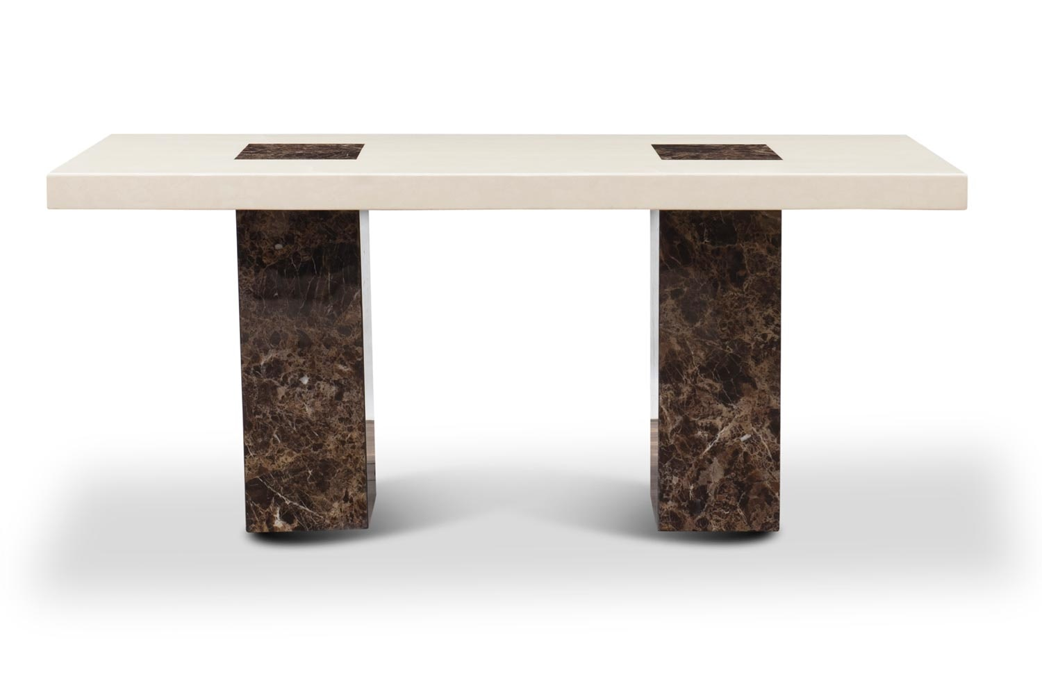 Strasbourg Dining Table | Cream & Brown