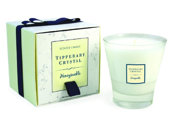 Tipperary | Crystal Honeysuckle Filled Tumbler | Glass Candle