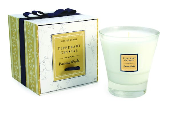 Tipperary | Crystal Precious Woods Filled Tumbler | Glass Candle