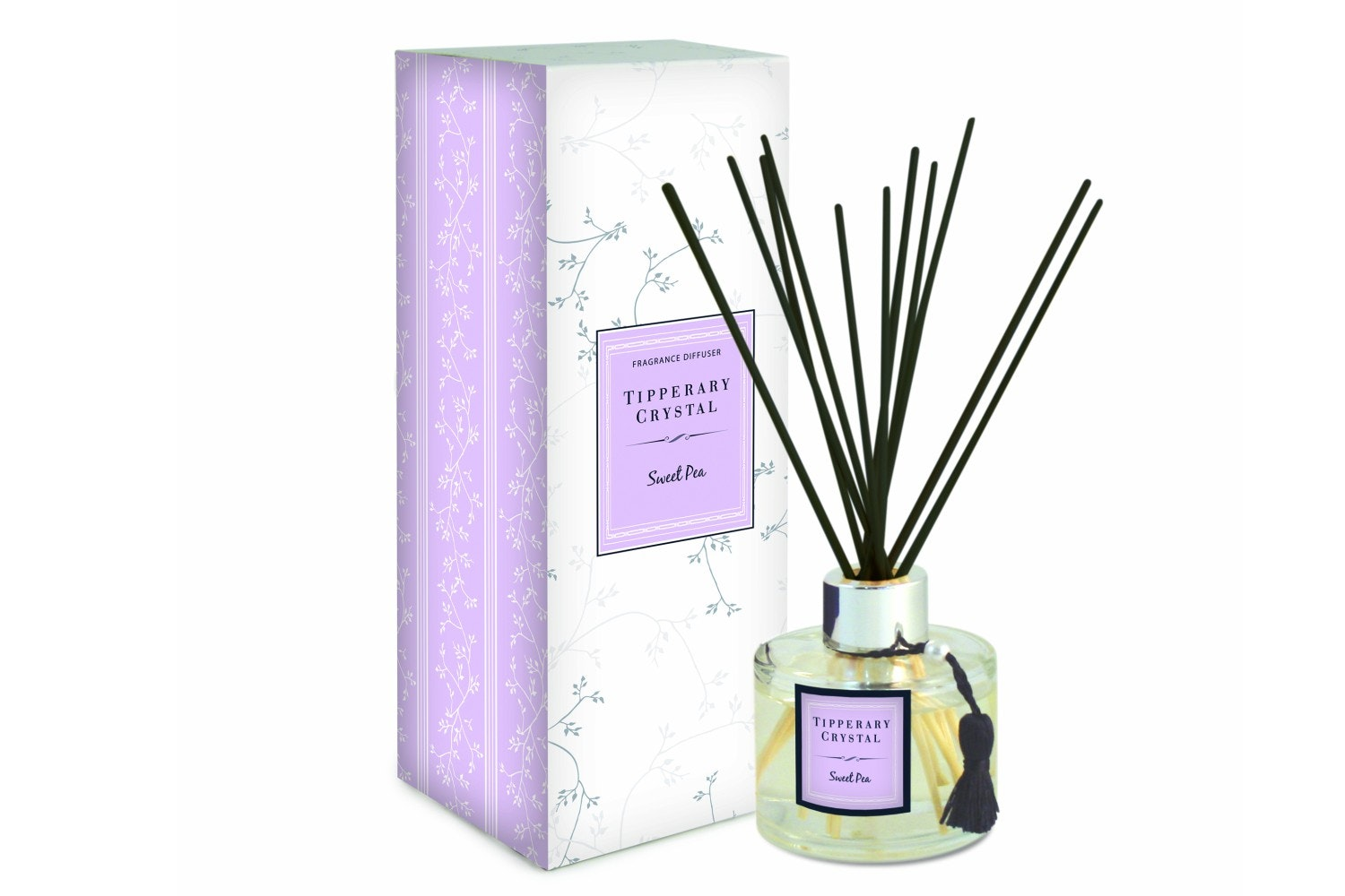 Tipperary Crystal Sweet Pea Fragranced Diffuser