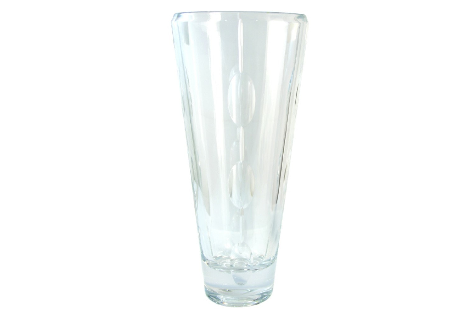 Tipperary Crystal Oval Cut Vase | 14 Inch