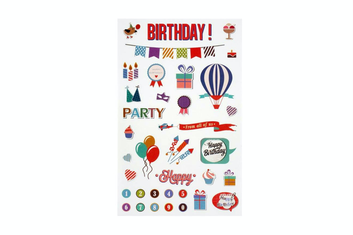 Sticker Sheet | Birthday