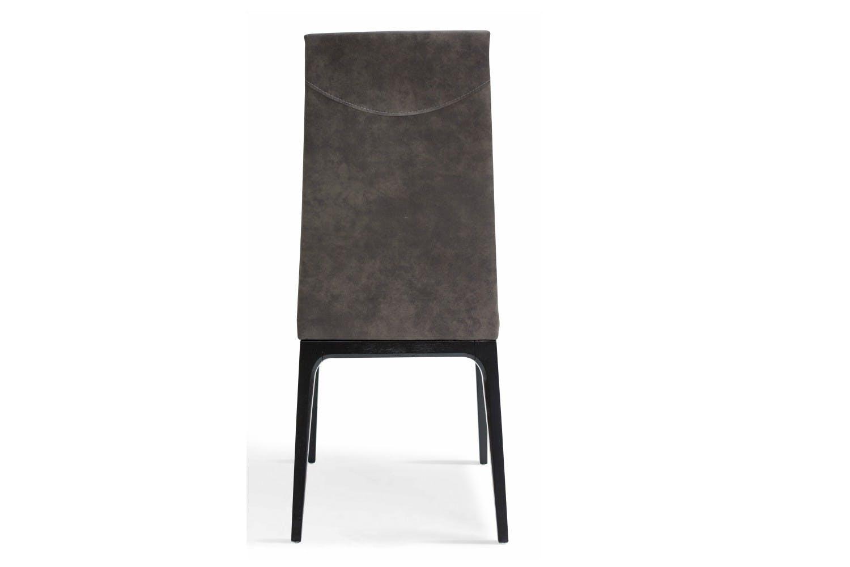 Calvino high back dining chair dark