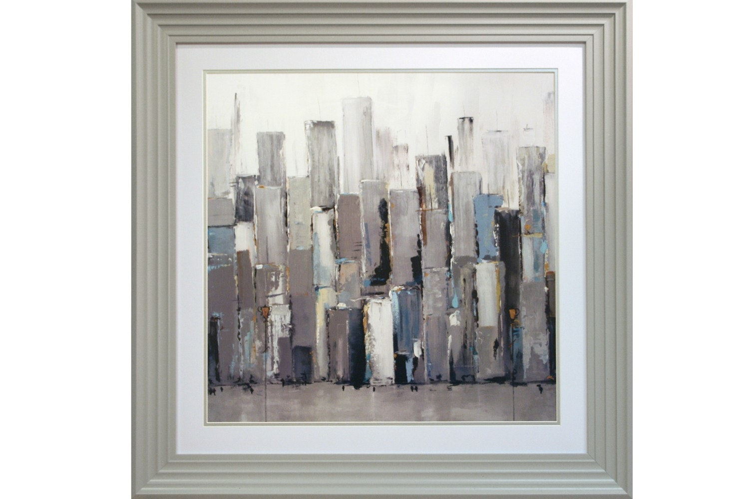 Pale Skyline Framed Print