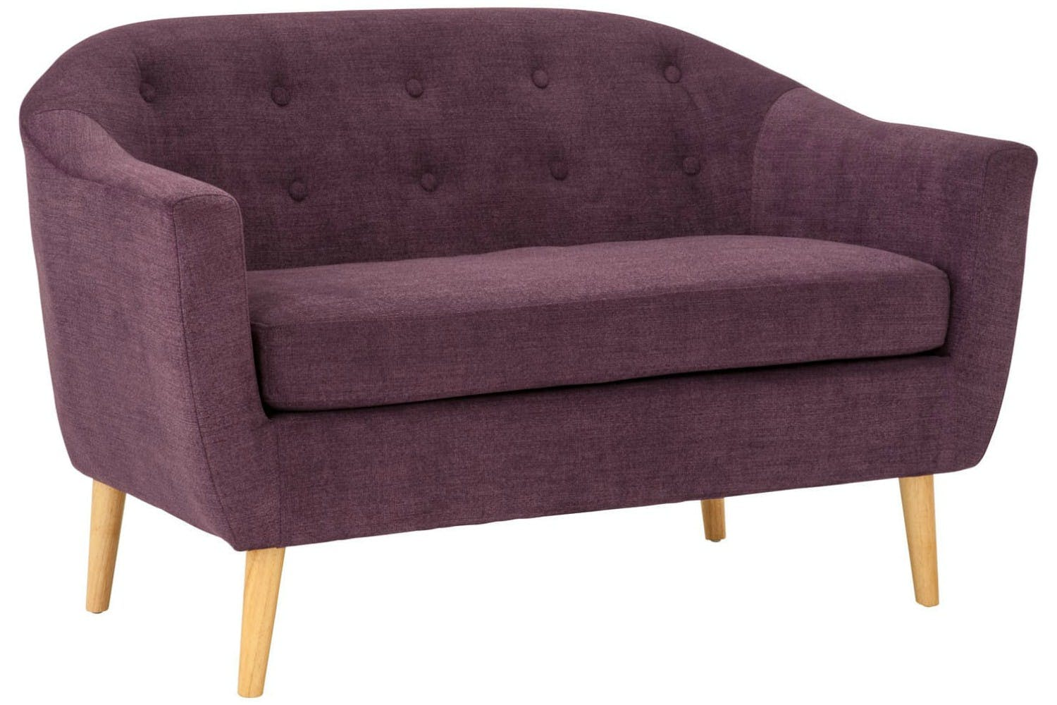 Harrison 2 Seater Sofa Plum